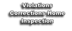 Violations Corrections Home Inspection